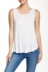 Lush Surplice Back Sleeveless Tee White