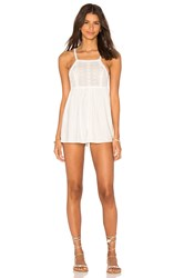 Somedays Lovin Tia Embroidered Romper Ivory