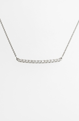 Bony Levy 'Stick' Pave Diamond Bar Necklace Nordstrom Exclusive White Gold
