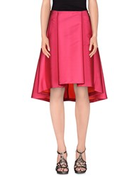 Space Style Concept Skirts 3 4 Length Skirts Women Fuchsia