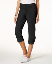 Lee Platinum Ruched Cropped Pants Black