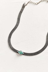 Urban Outfitters Tara Mesh Choker Necklace Silver
