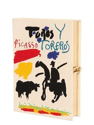 Olympia Le Tan Picasso Toreros Embroidery Book Clutch