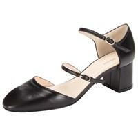 John Lewis Multi Strap Court Shoes Black