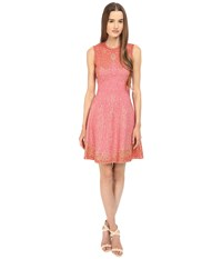 M Missoni Beaded Jaquard Dress Pink