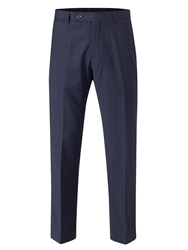 Skopes Trueman Check Tailored Fit Suit Trousers Navy
