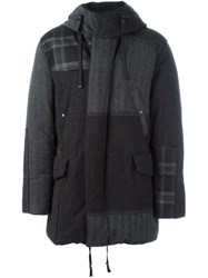 Lanvin Patchwork Padded Jacket Grey