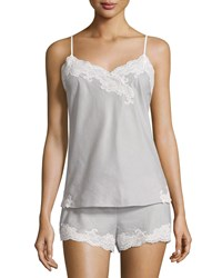 Natori Paradise Lace Trim Nightie And Shorts Set Dark Lead