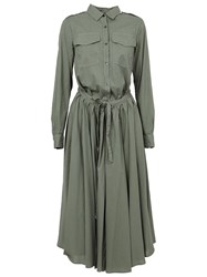 Dries Van Noten 'Deanna' Dress Green