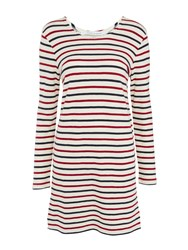 Samsoe And Samsoe Damas Stripe Dress Breton Beet
