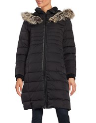 Bcbgeneration Faux Fur Trimmed Hooded Puffer Coat Black
