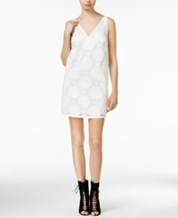 Rachel Rachel Roy Embroidered Mesh Shift Dress White