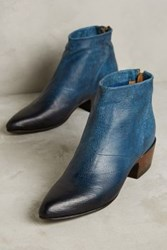 Anthropologie Lucchese Sophie Booties Blue