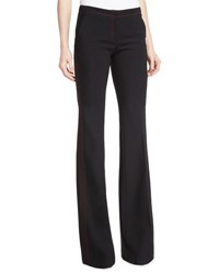Burberry Topstitched Boot Cut Pants Black