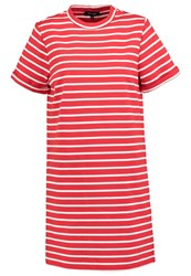 New Look Ec Robin Jersey Dress Red Pattern