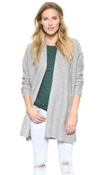 Inhabit Boiled Wool Cardi Mid Grey