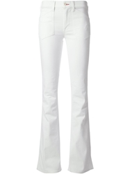 Ralph Lauren Black Flared Jeans White
