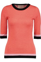 Roksanda Ilincic Almar Wool Silk And Cashmere Blend Sweater Orange