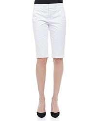 Vince Side Buckle Bermuda Shorts White