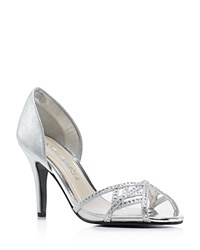 Caparros Cecilia Metallic D'orsay High Heel Pumps Silver