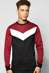 Boohoo Panel Sweater Wine