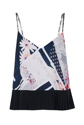 French Connection Samba Avenue Floral Camisole Blue
