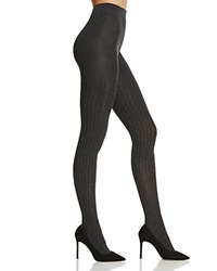 Hue Ribbed Sweater Tights Graphite Heather