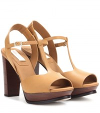See By Chloe Leather Sandals Brown