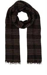 Destin Men's Plaid Boucle Scarf Black
