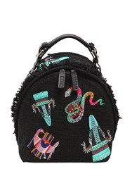 Msgm Embroidered Patches Backpack