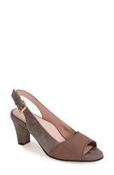Taryn Rose 'Fortula' Slingback Open Toe Pump Women Taupe