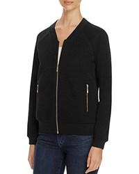 Finity Sparkle Quilted Knit Bomber Jacket Black