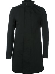 Rick Owens Short Trench Coat Black