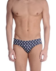Mc2 Saint Barth Bikini Bottoms Dark Blue
