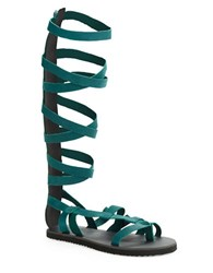 Free People Cynder Gladiator Sandals Forest Blue