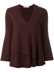 Givenchy Flared Layered Blouse