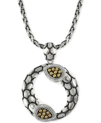 Effy Collection Effy Diamond Scale Pendant Necklace 1 5 Ct. T.W. In 18K Gold And Sterling Silver