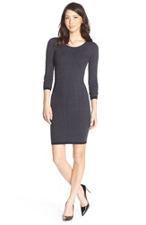 Marc New York Pinstripe Body Con Sweater Dress