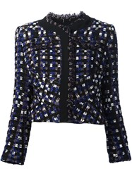 Peter Pilotto Frayed Boucle Jacket Black