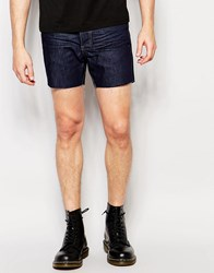 Religion Short Denim Shorts Dark Indigo Blue
