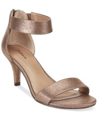 Styleandco. Style And Co. Paycee Two Piece Dress Sandals Only At Macy's Women's Shoes Copper