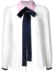 Roksanda Ilincic Ribbon Collar Blouse White