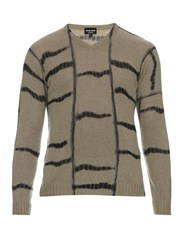 Giorgio Armani Tie Dye Effect Striped Cashmere Sweater