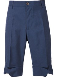 Vivienne Westwood Man Slashed Knee Shorts Blue