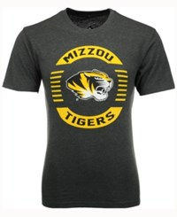 Colosseum Men's Missouri Tigers Circle Logo T Shirt Heather Charcoal