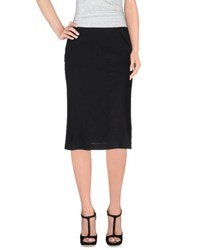 Kiltie Skirts 3 4 Length Skirts Women Black