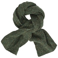 John Lewis And Co. Made In Italy Woven Stitch Scarf Green