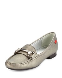 Marc Joseph New York Grand Street Horsebit Leather Loafer Pewter