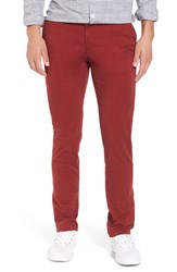 Original Penguin Men's Slim Fit Chinos Pomegranate
