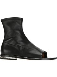 Givenchy Chain Trim Booties Black